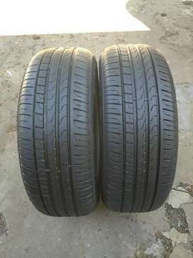 2 X 205/55/16 pirelli Runflat tyres for sell