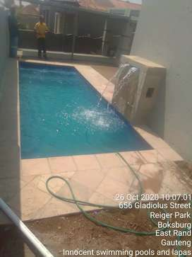 New Swimming Pools with a water feature and Renovations