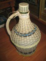 Бутыль для вина в плетенке, использовать как декор или по назначению