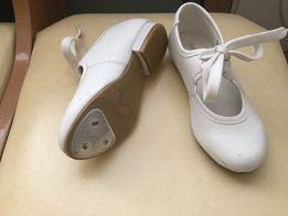 Туфли белые праздник, для степа, чечётки, танцев Danse dezines, р.25