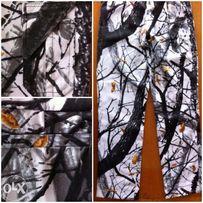 Спортивные штаны камуфляж зимний лес ветки