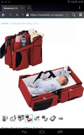 Baby folding bed/bag