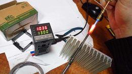Терморегулятор REX-C100, + термопара + твердотельное реле, термостат