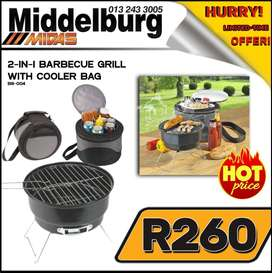 2-in-1 Barbecue Grill with Cooler Bag ONLY R260 at Middelburg Midas