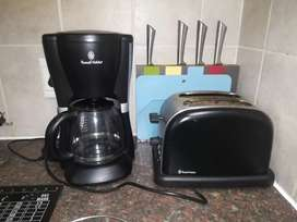 Russel Hobbs Coffee Machine and Toaster