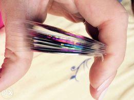 Скотч-лента для дизайна ногтей 9 шт
