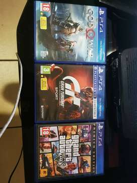God of War, Grand Tourismo Sport and Grand Theft Auto