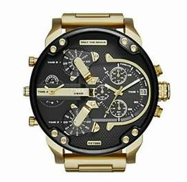 "Diesel ""The Daddy 2.0"" 57inch gold men's watch for sale"