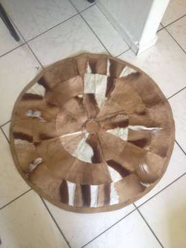 Round patched carpet