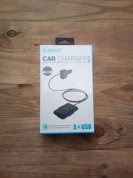 ORICO 52W 5 Port Car Charger with Extension Cord(UCP-5P)