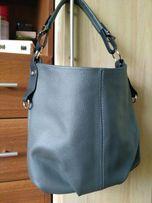 Кожаная сереая сумка, пр-во Польша