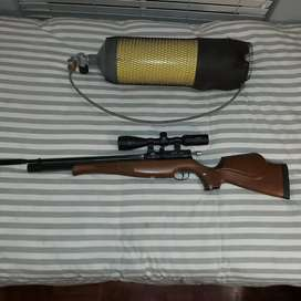 Air arms S410f pcp air rifle with air tank