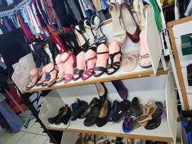 Clothes and shoes for sell  we also take donations  kempton