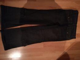 dżinsy granatowe , jeansy dzwony