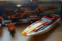 LEGO CITY 7686 Transport Helikopter 4643 Motorówka Ścigacz Motor Łódź