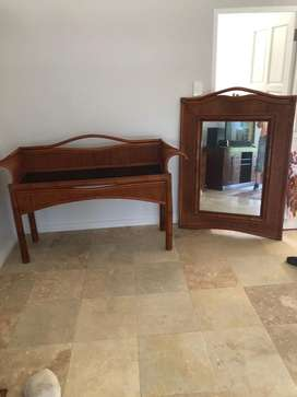Indonesian sideboard with mirror