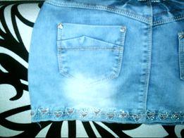 Осветлённая джинсовая юбка для девочки