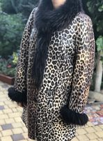 Дубленка женская леопардовая