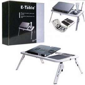 Laptop Stand E-Table. Foldable, Adjustable, Portable with Cooling Fans