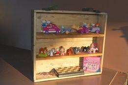 Regał dziecięcy drewniany półka na zabawki książki