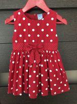 Śliczna sukienka 5 10 15 - rozmiar 86