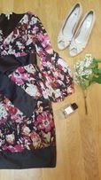 Шифоновое летнее платье в цветок/на выпускной