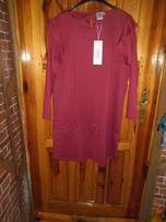 ciemnoczerwona nowa sukienka ze streczem roz.44/46 i 48/50