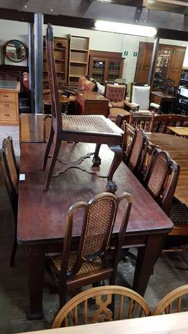 6 x Cape Stinkwood Rattaned Chairs