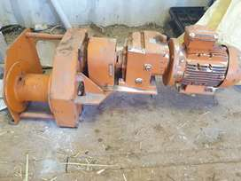 Winch for take-up unit electrical