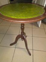 Stylowy stolik kawowy blat skóra