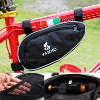 Сумка для велосипеда YANHO под раму 24х12х5 треугольник велосумка вело