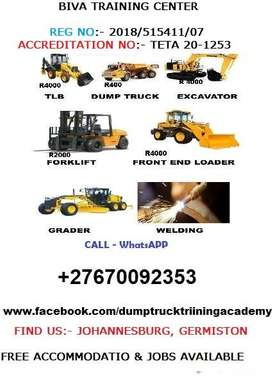 TLB Excavator Grader Forklift & Welding Courses Training Academy