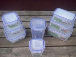 Судочки пластиковые пищевые с зажимами