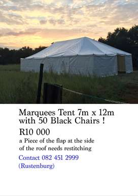 Marquees tent with 50 chairs