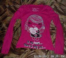 Реглан, кофта, блуза, свитер,водолазка на девочку 6-8 лет