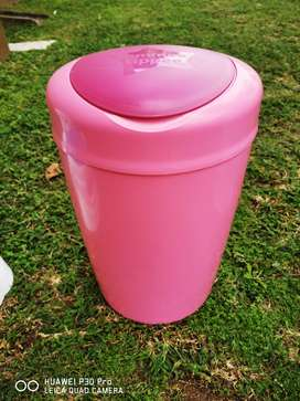 Pink Tommee Tippee sangenic nappy bin