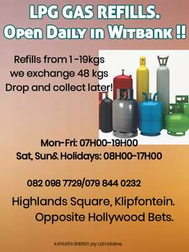 LPG Gas Refill  everyday including weekends