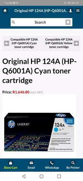 Original HP 124A (HP-Q6001A) Cyan toner cartridge