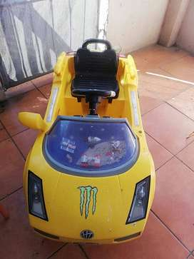 Yellow Convertable Electronic kids car