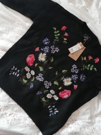 Sprzedam czarny haftowany sweter MEDICINE Węgrów - image 1