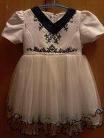 Продам красивое белое платье (на 2 годика)