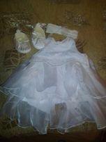Нарядное платье для девочки 1-3 месяцев