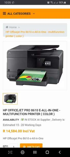 Hp 8610 officejet printer all in one