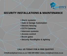 Security Installations and Maintenance