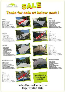 Bedouin tents Second-Hand .various sizes