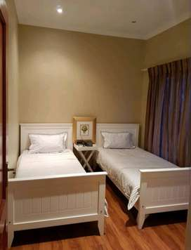 *REDUCED from R6 000* 2 x Single Wooden(Pine) Beds in White