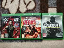 Various Xbox one game titles for sale @ R200 each