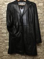 кожаный пиджак GUESS из натуральной кожи,раз.М