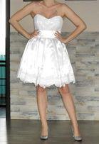 Sukienka - Krótka Suknia Ślubna rozm. M
