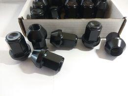 Черные гайки для литых дисков М12*1,5 Kia Mazda Hyundai Lexus Honda
